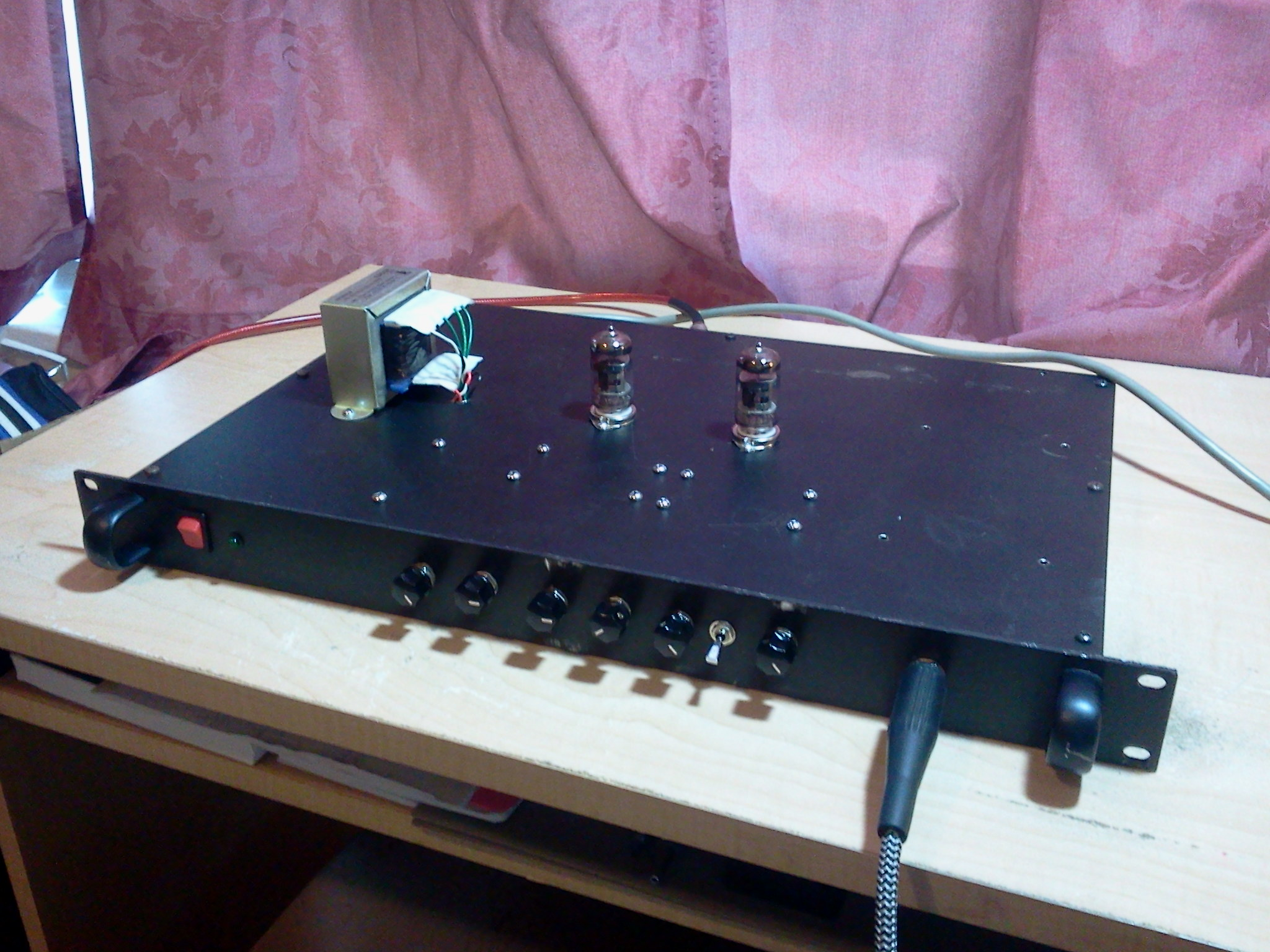 homebrew rackmount tube guitar preamp brandon foltz. Black Bedroom Furniture Sets. Home Design Ideas